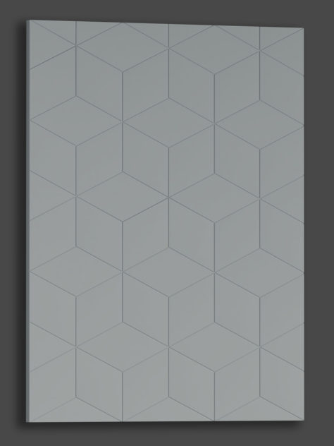 Cube, kuvijyrsätty MDF ovi.