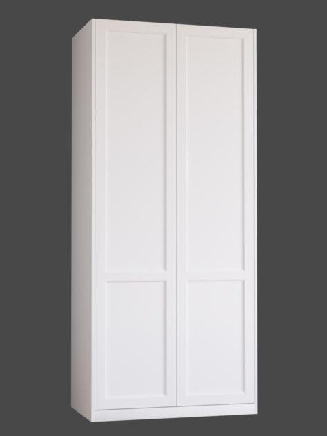 Shaker P3.2, kehyksellinen ovi, 2 paneelia, paneelin syvyys 9mm, kehys sileä, kehyksen leveys yhteensä 70mm, 8 mm pyöreällä sisäprofiililla.