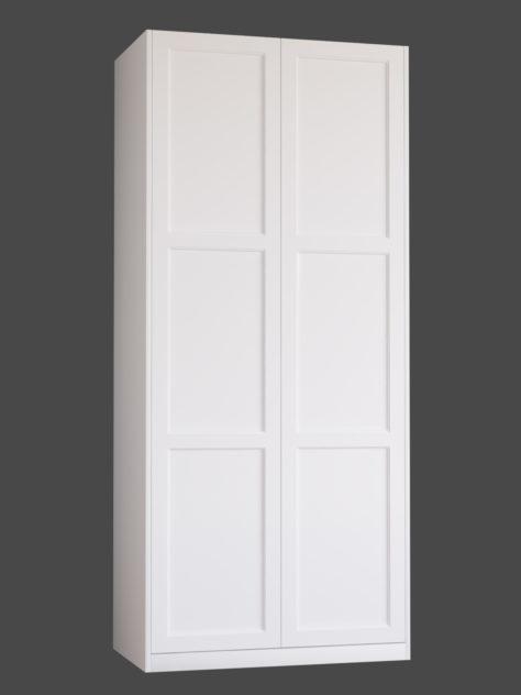 Shaker P3.3, kehyksellinen ovi, 3 paneelia, paneelin syvyys 9mm, kehys sileä, kehyksen leveys yhteensä 70mm, 8 mm pyöreällä sisäprofiililla.