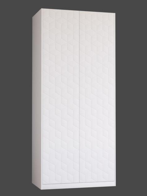 Kuviojyrsättu CUBE ovi PAX vaatekaappiin.