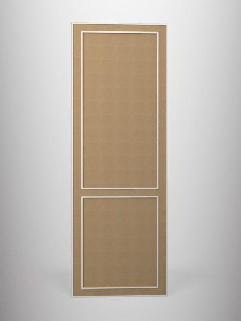 Shaker P2.2, kehyksellinen ovi, 3 mm syvälla uralla, kaksi paneelia, maalamaton.