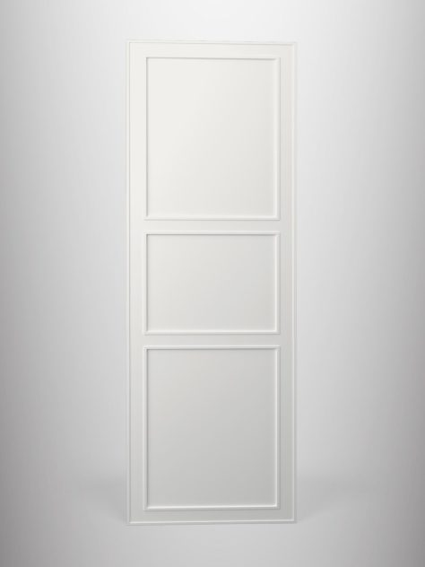Shaker P2.3, kehyksellinen ovi, 3 paneelia, paneelin syvyys 7mm, kehys 70mm leveä 3 mm syvälla uralla.