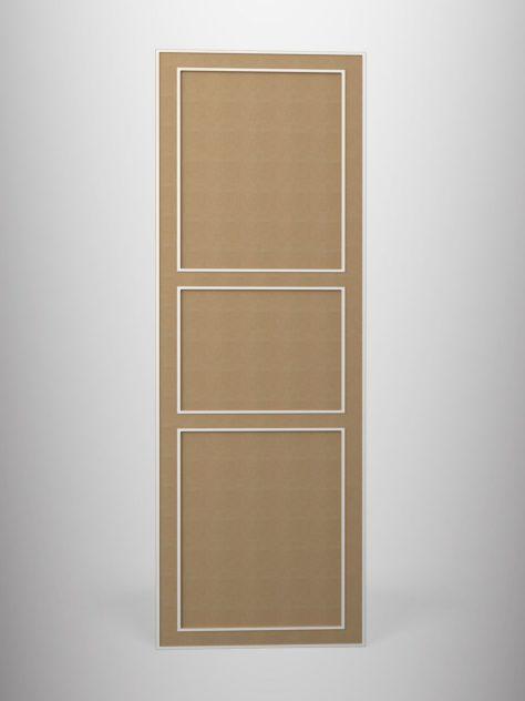 Shaker P2.3, kehyksellinen ovi, 3 mm syvälla uralla, kolme paneelia, maalamaton.
