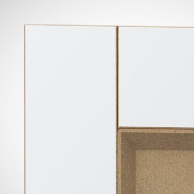Shaker P4, kehyksellinen ovi, 45° sisäprofiililla, V-uralla, maalamaton.