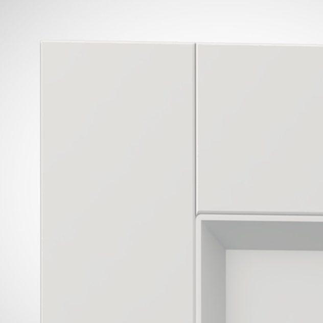 Shaker P4, kehyksellinen ovi, 45° sisäprofiililla, V-uralla.