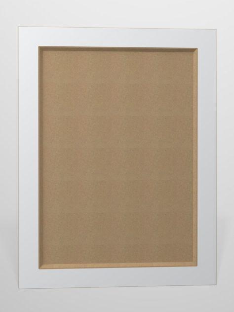 Shaker P4, kehyksellinen ovi, 45° sisäprofiililla, maalamaton.