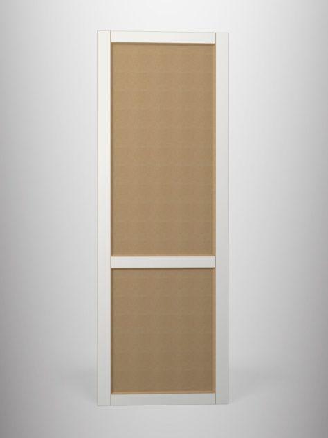 Shaker P4.2, kehyksellinen ovi, 45° sisäprofiililla, kaksi paneelia, V-uralla, maalamaton.